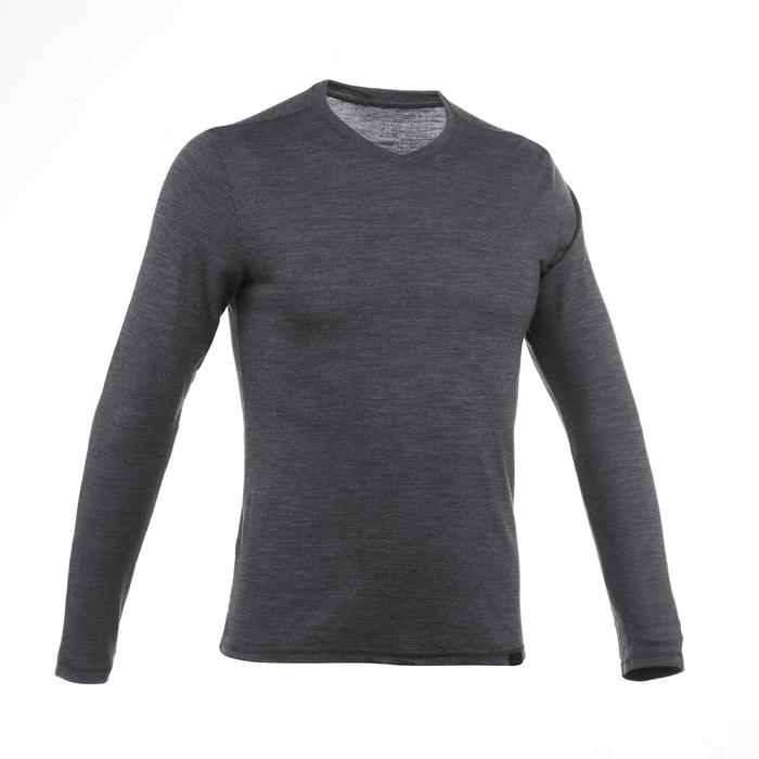 Tee-Shirt manches longues TRAVEL 500 WOOL Homme gris - 1218603