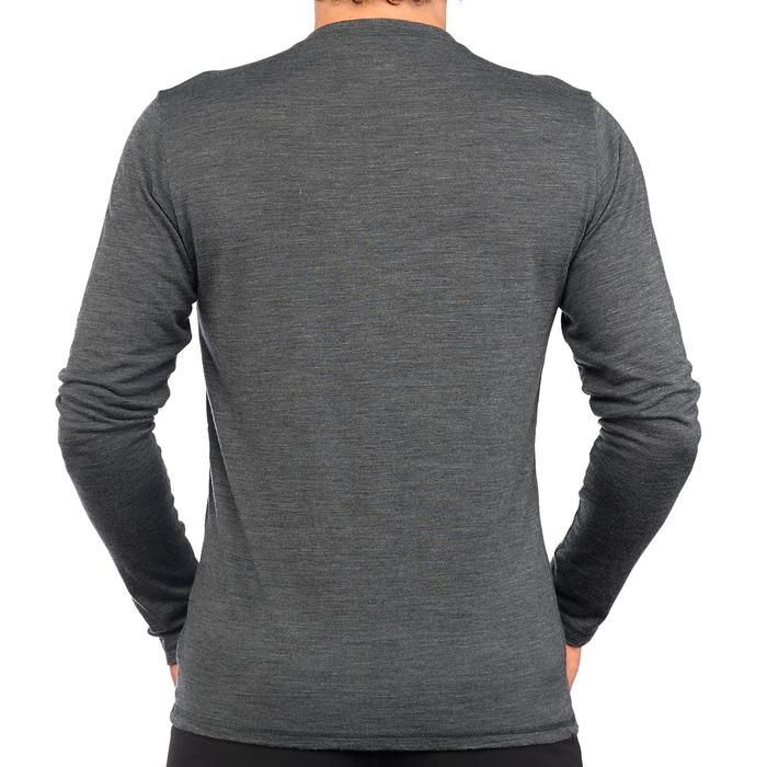 Camiseta de manga larga TRAVEL 500 WOOL Hombre gris