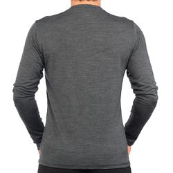Camiseta manga larga TRAVEL 500 WOOL Hombre gris