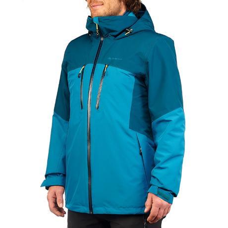 veste trekking rainwarm 500 3en1 homme turquoise quechua. Black Bedroom Furniture Sets. Home Design Ideas
