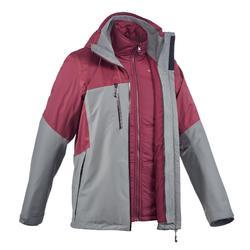 Trekkingjas voor heren Rainwarm 500 3 in 1