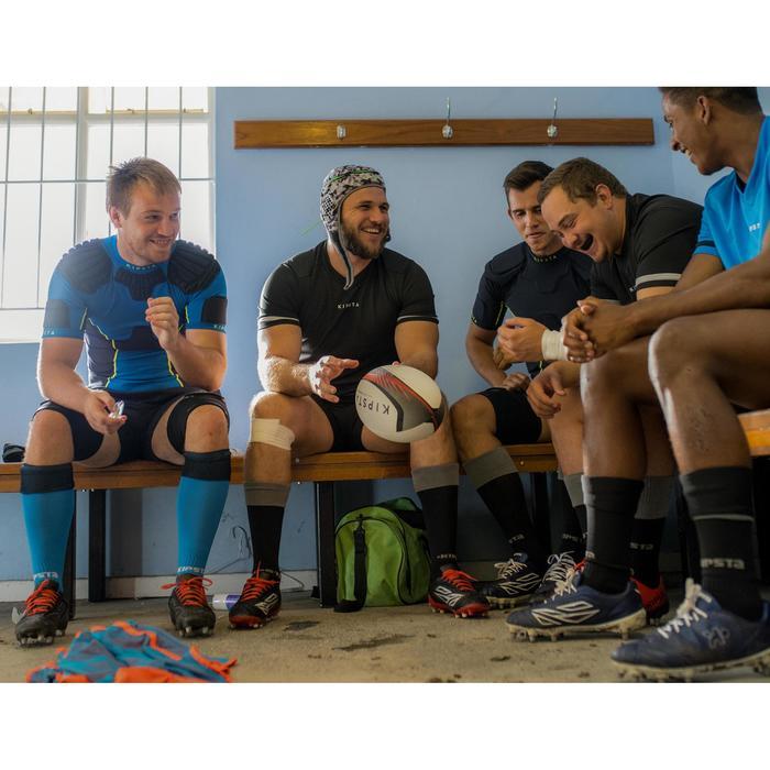 Botas de Rugby Offload Density R100 SG taco alumnio adulto negro