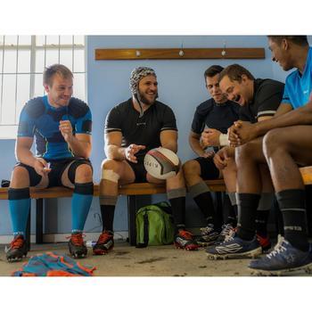 Camiseta de rugby hombre R100 negro