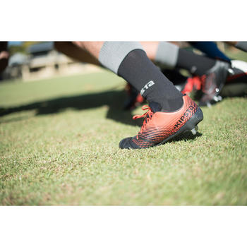 chaussures rugby adulte 8 crampons Density 700 SG noir rouge