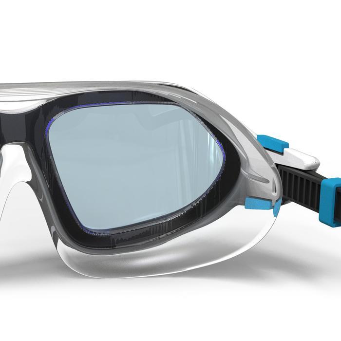 Zwembril Active maat L wit grijs