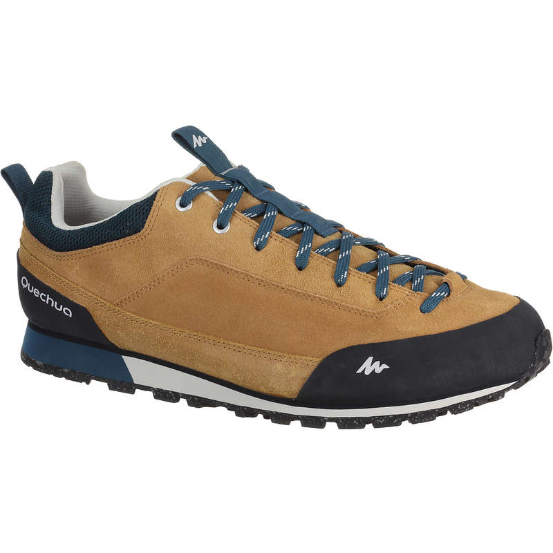 MEN NATURE HIKING SHOES - NH500 Mens Walking Shoes - Beige  QUECHUA