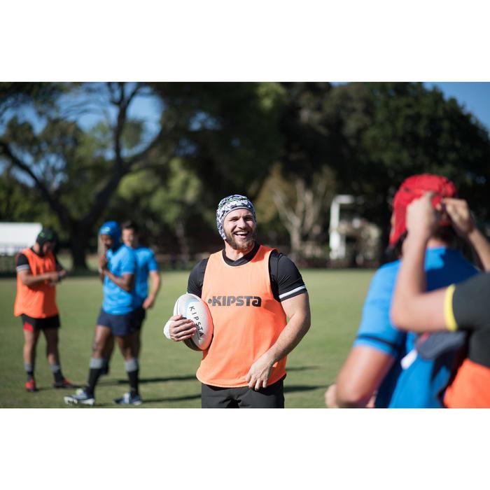 Rugbyhelm kinderen R500 blauw wit