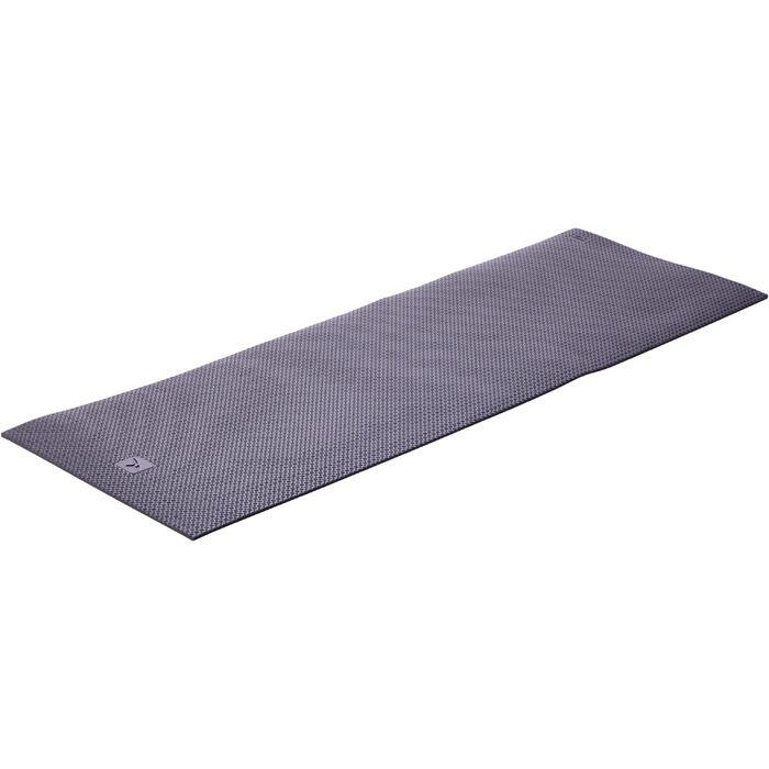 Schoenbestendige gymmat 900 pilates toning maat L 9 mm zwart