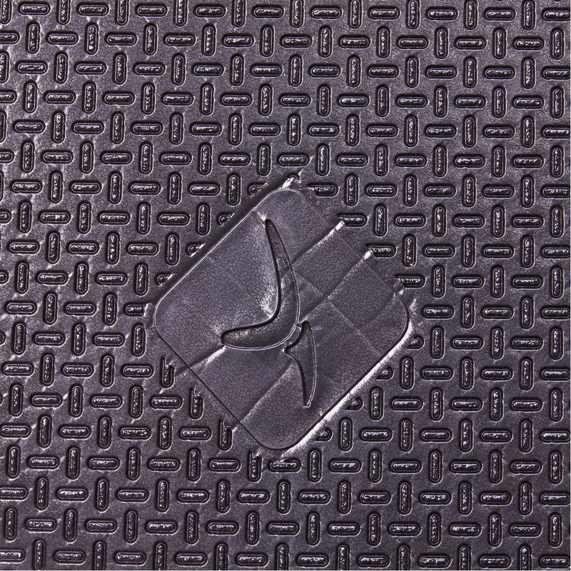 900 Pilates & Toning Shoe-Resistant Floor Mat Size L 9 mm - Black