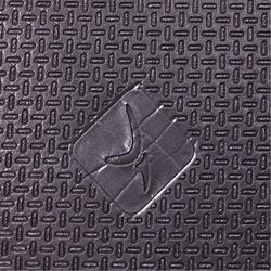 Schoenbestendige gymmat voor pilates/toning 900 maat L 9 mm zwart