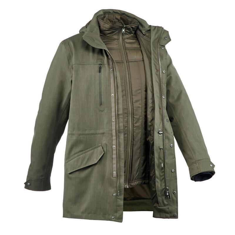 M Travel Trekking 3-in-1 Wtpf Jacket - Temp Rating -15°C - Travel 700 - khaki