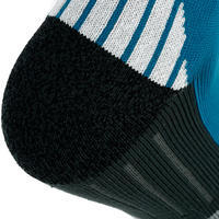 2 pairs of FORCLAZ 500 adult high-top hiking socks - blue