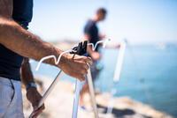 Support de canne pêche en mer TÉLESCOPIQUE TRÉPIED