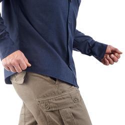 Men's Arpenaz 100 warm trekking shirt - Navy blue