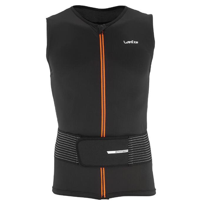 Gilet protection dorsale de snowboard et de ski adulte DBCK 100 noir