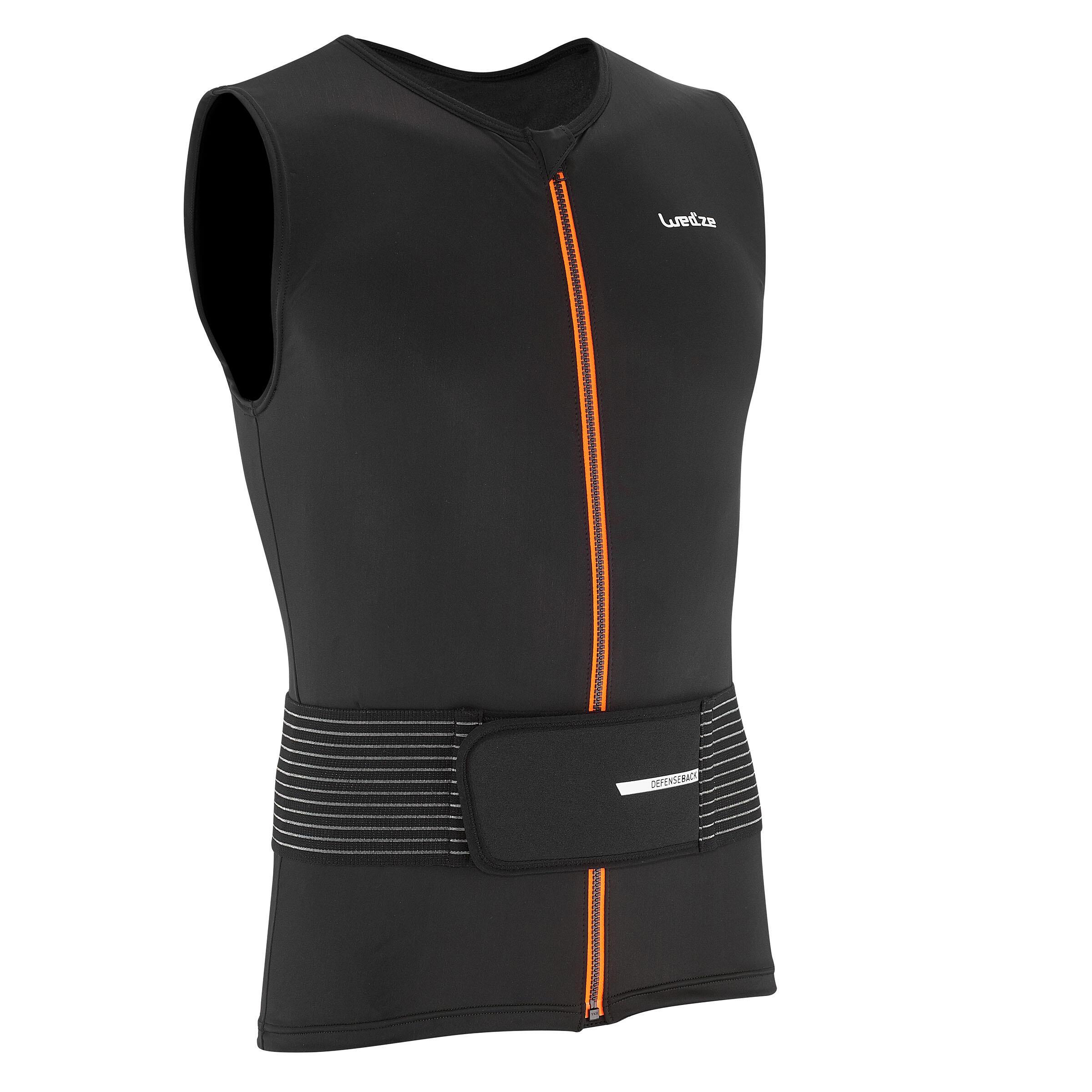 Protezione per la schiena protezione schiena sicurezza gilet da equitazione da indossare Nero
