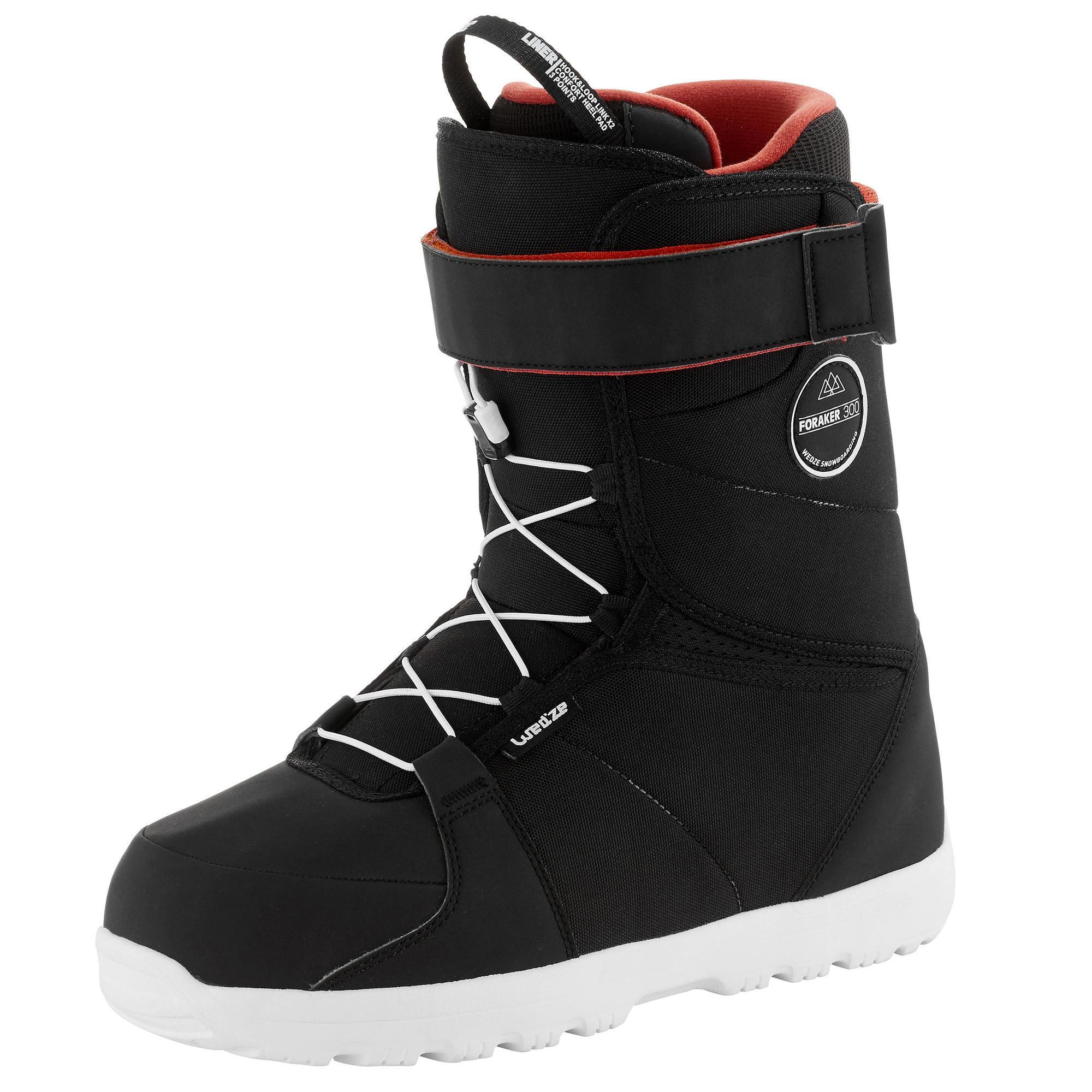 Wed'ze All mountain snowboardboots voor heren Foraker 300 - Fast Lock 2Z zwart thumbnail