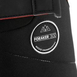 Chaussures de snowboard homme polyvalente FORAKER 300, Noir