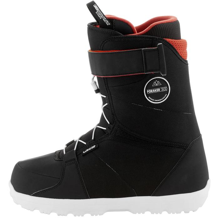 Chaussures de snowboard, all mountain, homme, Foraker 300 - Fast Lock 2Z, noires - 1221606