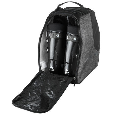 SKI BOOT BAG 500 - GREY AND BLACK