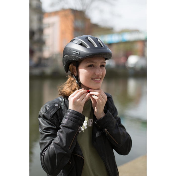 Fahrradhelm City 500 schwarz