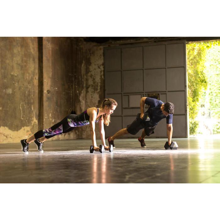 Mancuerna Hexagonal Dumbbell Cross Training Musculación Domyos 5 Kg Negro
