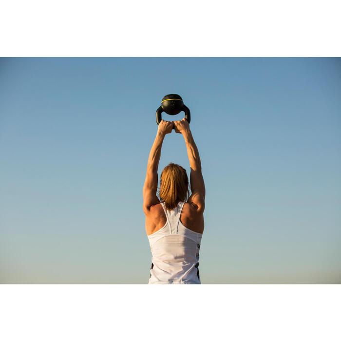 Kettlebell Cross Training Musculación Domyos 4 Kg Negro/Blanco
