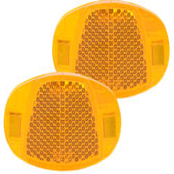 Speichenreflektoren Katzenaugen orange StVZO (1 Paar = 2 Stück)