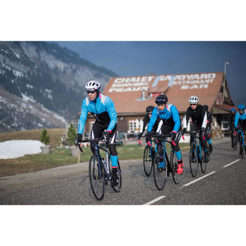 Lange Fahrrad-Trägerhose Rennrad Aerofit Herren schwarz