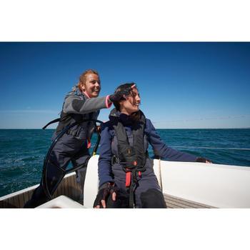 Damesfleece Cruise voor zeilen blauw/roze