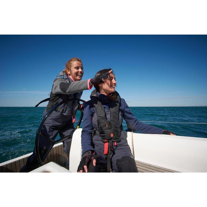 Fleecejacke Segeln Cruise Damen blau/rosa