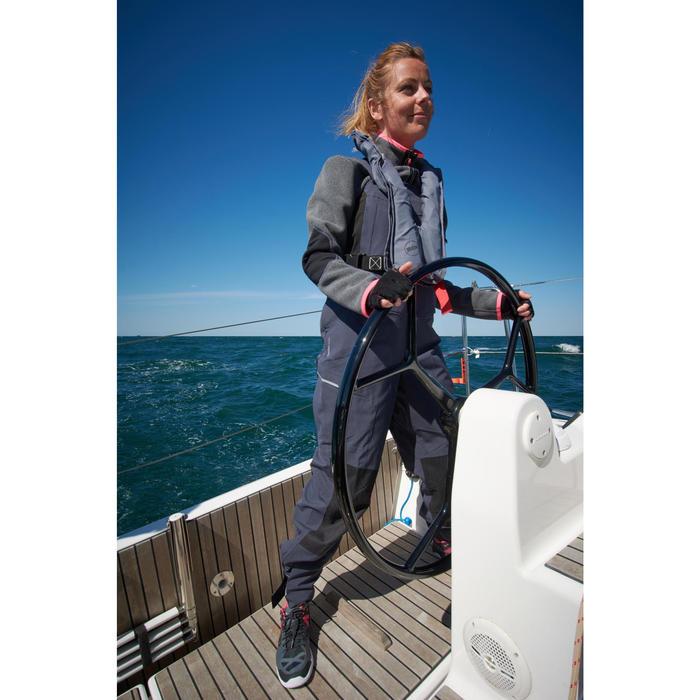 Damesfleece Cruise voor zeilen grijs/roze