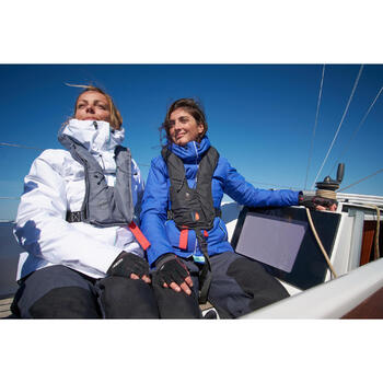 Chubasquero cálido náutico mujer 100 azul marino