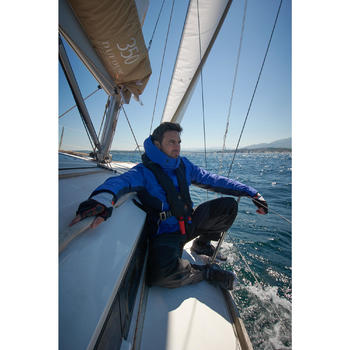 Chubasquero cálido de vela hombre 100 azul marino
