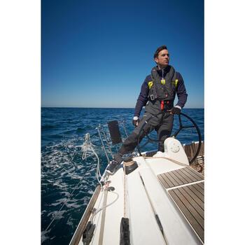 Polaire bateau homme RACE tricolore bleu / bleu foncé / gris