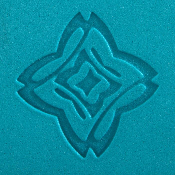 Schuimrubberen yogablok grijs/blauw