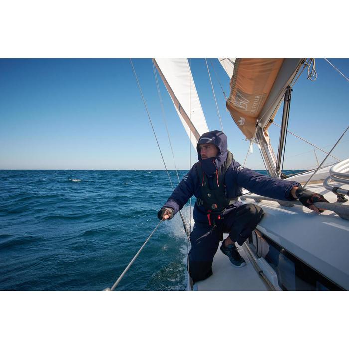 Chaqueta parka náutica hombre 500 azul marino