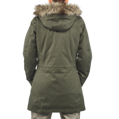 Women's 3-In-1 Waterproof Comfort -10°C Travel Trekking Jacket -TRAVEL 700-khaki