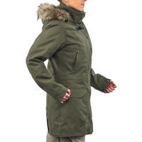 Women's waterproof 3in1 travel trekking jacket - Travel 700 -10° - Khaki