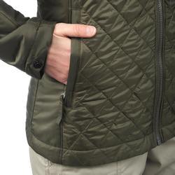Veste 3en1 imperméable confort -10°C de trek voyage - TRAVEL 700 kaki- femme