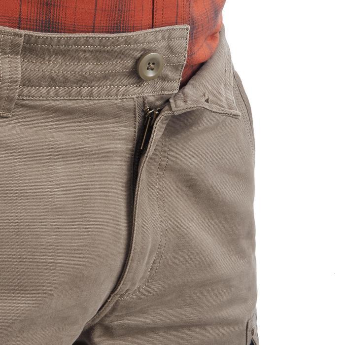 男款登山保暖長褲Travel 100-米色
