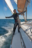 Cruise Men's Sailing Fleece - Yellow / Grey