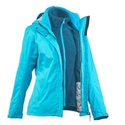 Rainwarm 100 Women's 3-in-1 Trekking Jacket - Blue