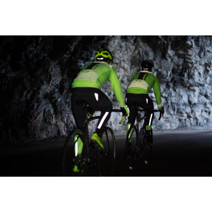 Lange fietsbroek 900 voor heren zwart geel