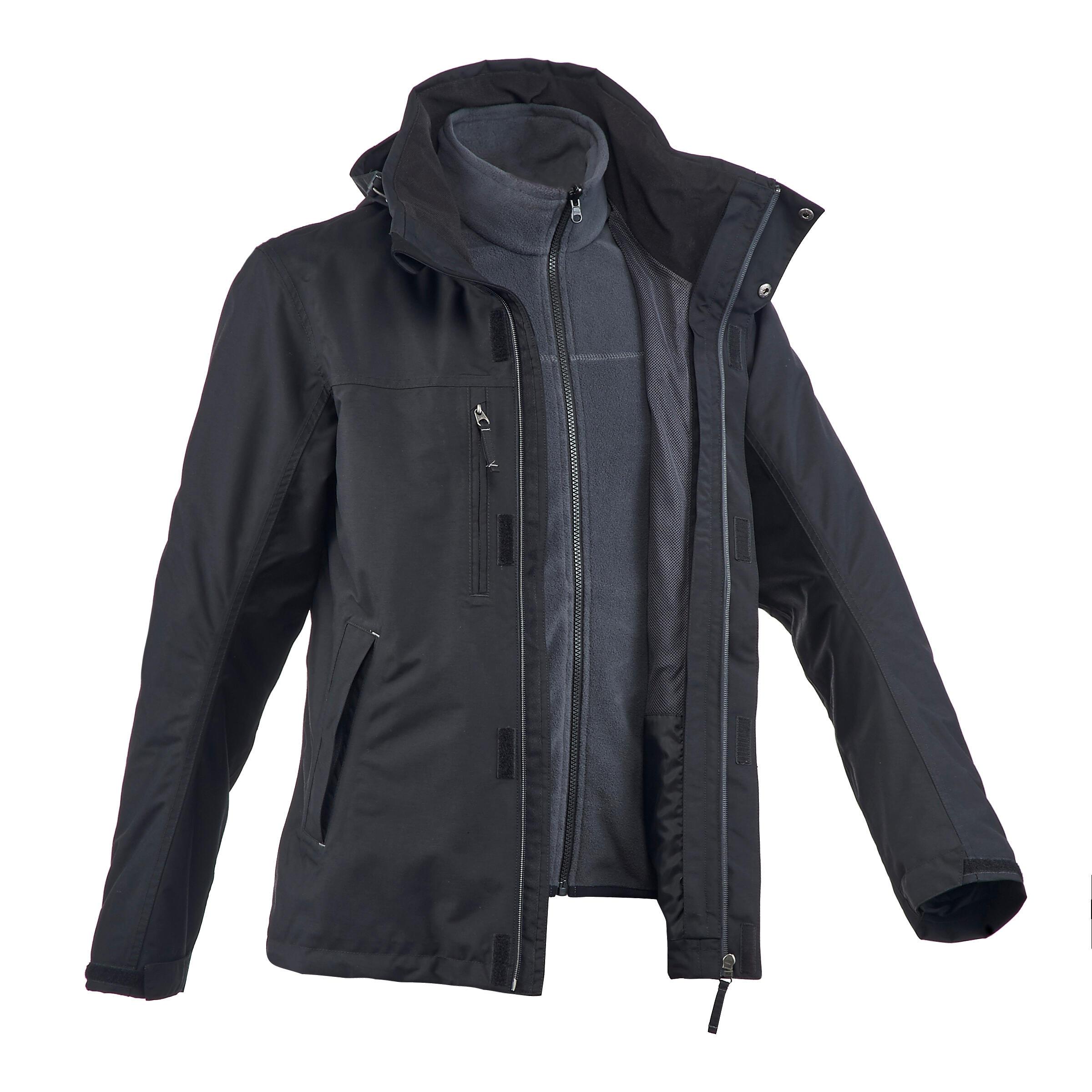 Rainwarm 100 3-in-1 mens black trekking jacket