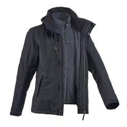 男款三合一健行外套RAINWARM100-黑色