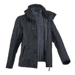 Rainwarm 100 3-in-1 mens black trekking jacket