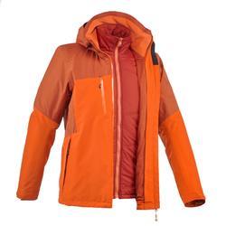 trekking jacket Rainwarm 500 3 in 1 men's black