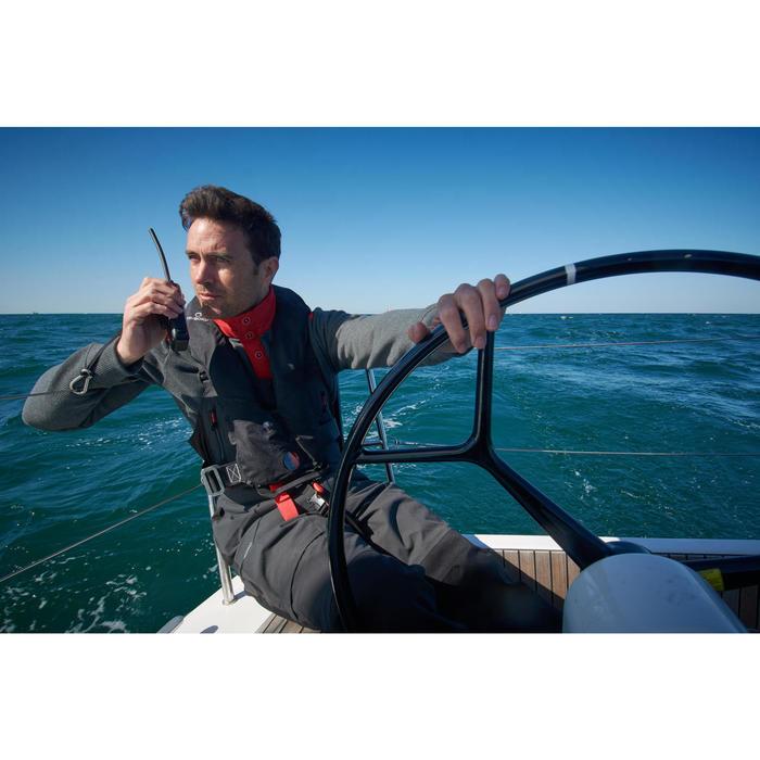 Jersey Polar Barco Vela Tribord Sailing 100 Hombre Gris Cálido