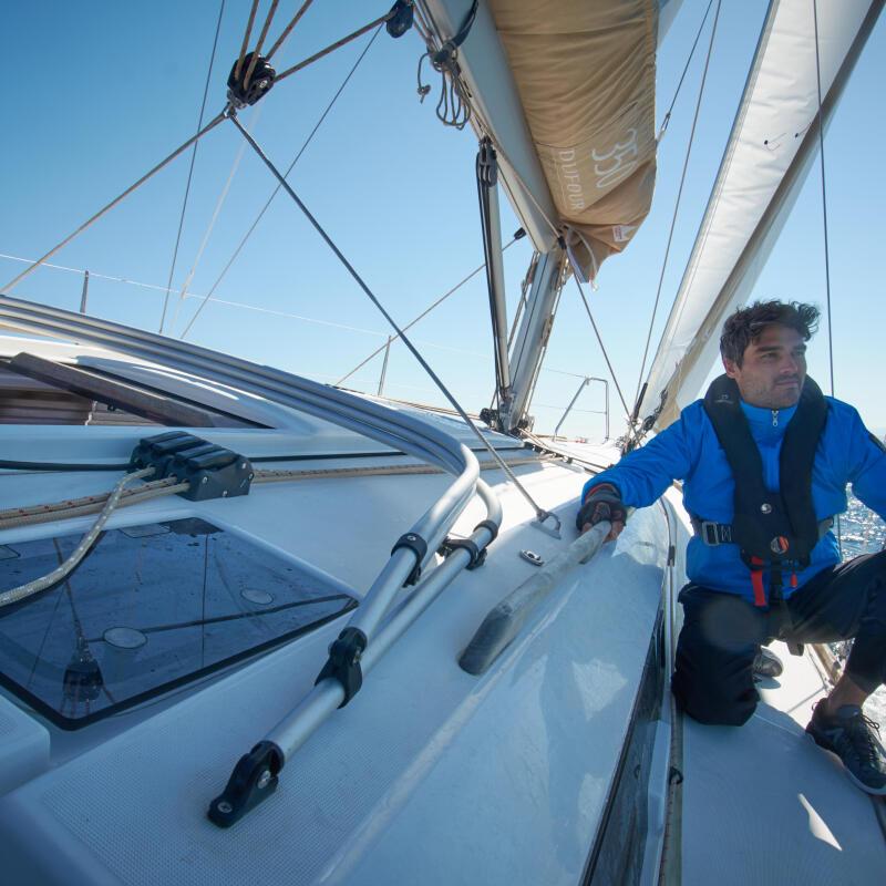 catamaran zeilen tribord